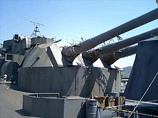 尾道 戦艦大和実物大スケールの主砲部分