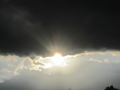 天武・持統陵から望んだ夕日